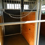 Swing doors to storage compartment