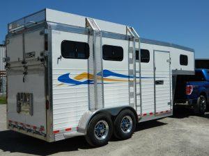 Aluminium 3 Horse Slant Load Trailer