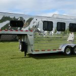 Stainless Steel Slant Load 3 Horse Trailer